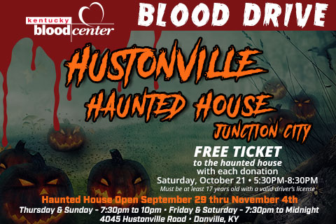 Hustonville Haunted House Blood Drive