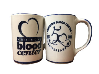 Kentucky Blood Center 50th Anniversary Louisville Stoneware mug