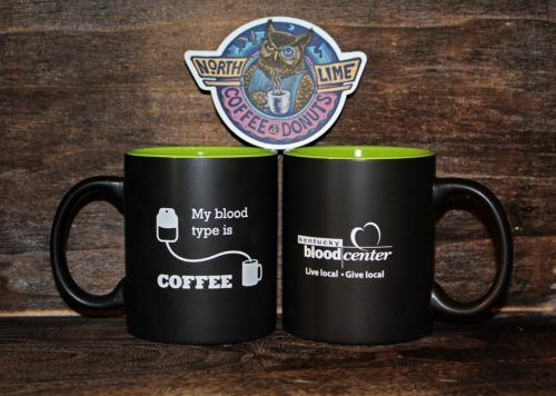 Kentucky Blood Center North Lime Coffee & Donuts mug